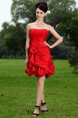 Affordable Short Girls Sweet 16 Party Dress In Red