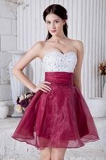 Cute Purple Beaded Sweet 16 Knee Length Dress
