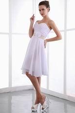 White Chiffon Dress With Belt Sweet 16 Dress Under 100 Dollars