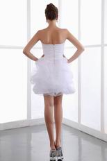 Sweet Heart White Organza Sweet 16 Mini Gowns Dress