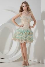 Colorful Sweetheart Hand Made High Quality Sweet 16 Dress
