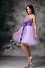 Beading Lilac Sweet 16 Dress With Bowknot Design