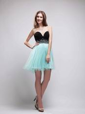 Black and Light Sky Blue Dresses To Sweet 16