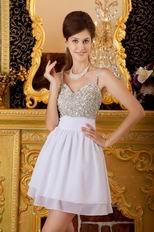 Straps Ivory Chiffon Sweet 16 Dress With Beading