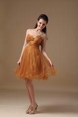 Ocher One Shoulder Neckline Sweet 16 Girl Dress
