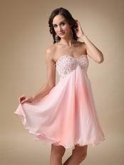Fading Color Chiffon Fabric Cute Girls Sweet 16 Dress
