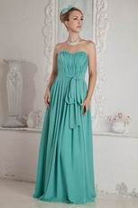 On Sale Sweetheart Turquoise Blue Chiffon Evening Dress