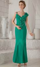 Turquoise Mermaid Ankle-length Mother of the Bride Dress