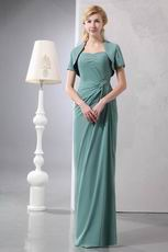 Mediun Aquamarine Mother Of The Bride Dress And Jacket