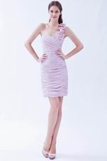 Sexy One Shoulder Lilac Chiffon Graduation Dress For Discount