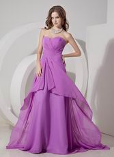 Sweetheart Lilac Chiffon Prom Girl Prom Dress UK
