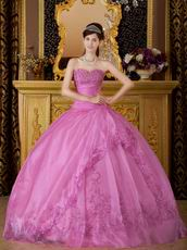Sweetheart Lilac Quinceanera Dress With Embroidery
