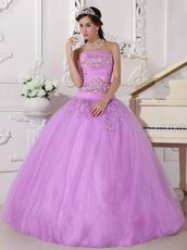 New Style Lilac Trimed Prom Quinceanera Dress UK