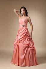 Pink Strapless Floor-length Woman In Prom Dress 2014