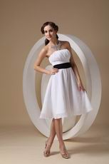 2013 New Arrival Pretty Bridesmaid Dress With Black Sash