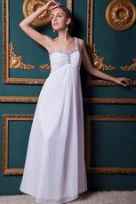 Beautiful One Shoulder Crystal Long Evening Dresses Gowns