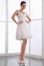 Appliqued Ivory Custom Made Homecoming Dresses