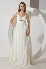 Best Seller Spaghetti Staps Ivory Chiffon Prom Dress For Women