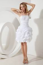 Beaded White Taffeta Dresses For Graduation Ceremony