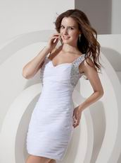 Beaded White Chiffon Buy Homecoming Dresses Online