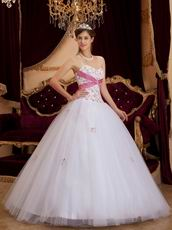 Beautiful Sweetheart White Organza Slim Quinceanera Dress