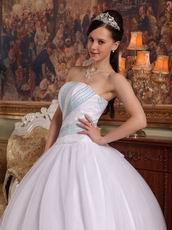 Strapless Top Designer White Quinceanera Dresses For Girls