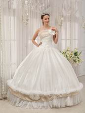 Wholesale Strapless White Bar Mitzvah Quinceanera Dress