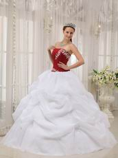 White Organza Floor Length Young Girl Birthday Dress