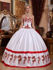 Wine Red Applique Bottom Princess Outfits To Quinceanera Party