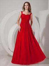Straps Scarlet Chiffon Long La Prom Dress 2014 For Sale