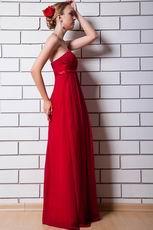 Strapless Wine Red Custom Plus Size Bridesmaid Dresses