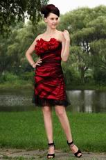 Affordable Sweetheart Wine Red Mini Evening Dress