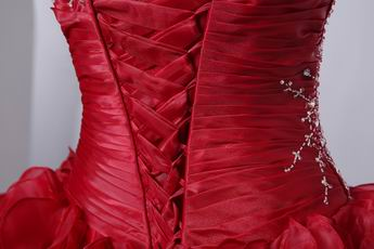 Handmade Wine Red Winter Quinceanera Dresses For Girls