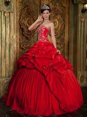Unique Crimson Prom Quinceanera Dresses By Top Designer