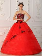 Scarlet Quinceanera Dress Top Designer Embroidery Bodice