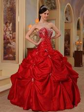 Beaded Wine Red Best Quinceanera Dress For Cheap