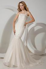 Halter Appliques Mermaid Fishtail Ivory Wedding Gown Sexy