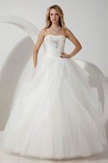 Noble Sweetheart Beading Puffy Ball Gown Dress For Bridal