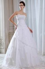 Sweetheart Flowers Upper Part Dropped Bridal Gown In Arkansas