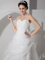 Discount Sweetheart Layers Detail Skirt Bridal Dress Sample Sale