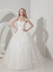Pretty Sweetheart Designer Bridal Wedding Dress With Applique