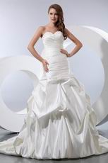 Pretty Sweetheart Bubble Ball Gown Ivory Wedding Bridal Dress