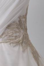 Pretty Corset Back Cheap Wedding Dress With Embroidery
