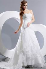 Discount Sweetheart Cascade Skirt Garden Wedding Ceremony Bridal Dress