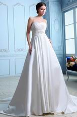 Best Sweetheart Empire Waist Ivory Stain Cathedral Wedding Gown