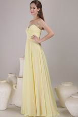 Sweetheart Neckline Daffodil Chiffon Bridesmaid Dress Discount