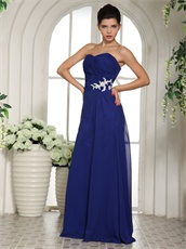 Celebrity Special Occasion Dress Dark Royal Blue Factory Direct Selling