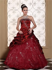 Embroidery Decorate Cute Quinceanera Dress For Discout Pretty Strapless