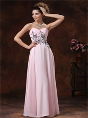 Appliques Light Pink Chiffon Homecoming Dress Girl First Choice