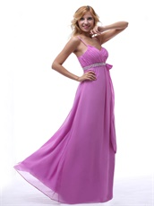 Spaghetti Graceful Light Violet Prom Dress With Bowknot New Arrival-online